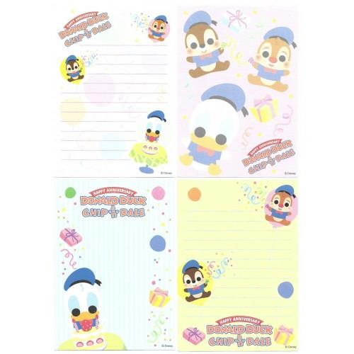 Kit 4 Notas Donald & Chip'n'Dale Anniversary Disney