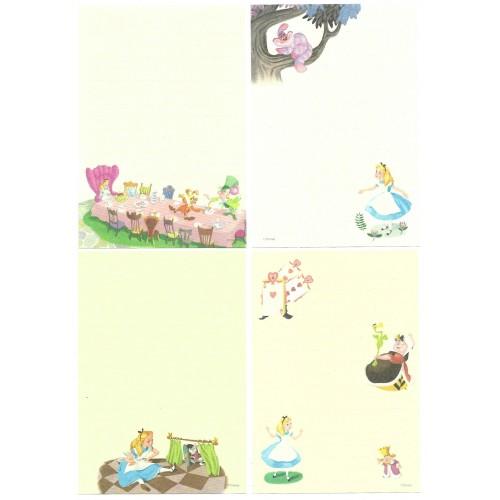 Kit 4 NOTAS Importados Alice In Wonderland Disney