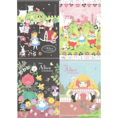 Kit 8 NOTAS Importados Alice In Wonderland Disney Delfino