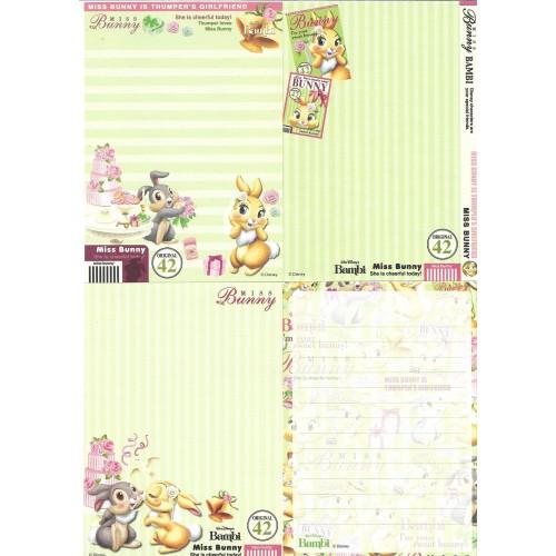 Kit 4 NOTAS Miss Bunny Sweet Bunny Disney Sun-Star