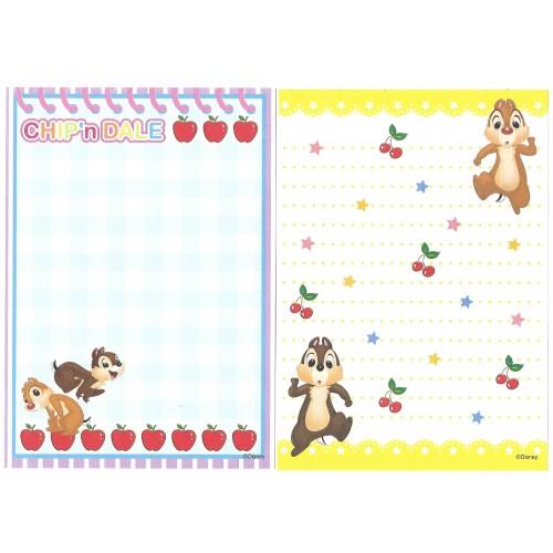 Kit 6 NOTAS Importadas Chip'n Dale Disney Japan