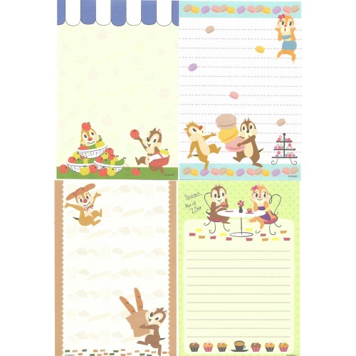 Kit 12 NOTAS Importadas Chip'n Dale We Love Clarice Disney Japan