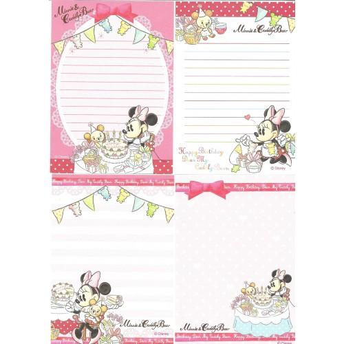 Kit 4 NOTAS Minnie & Cuddly Bear Sony Disney
