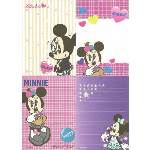 Kit 4 NOTAS Minnie Special Issue Cute Disney