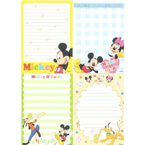 Kit 6 NOTAS Mickey & Friends Disney