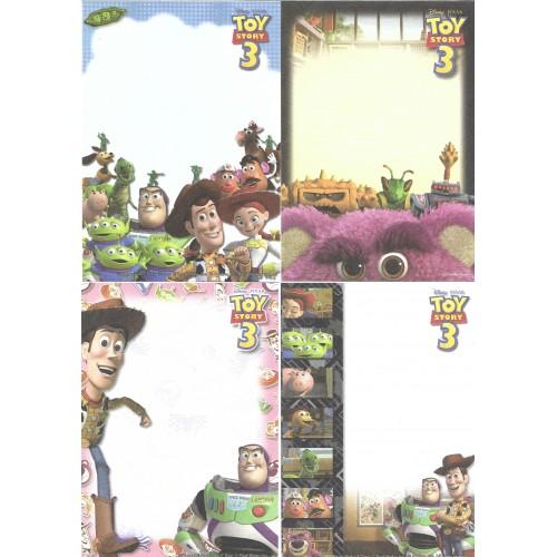 Kit 4 NOTAS Disney-Pixar TOY STORY 3 Sun-Star Japan