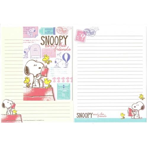 Conjunto de Papel de Carta Snoopy & His Friends Peanuts LCC 2016