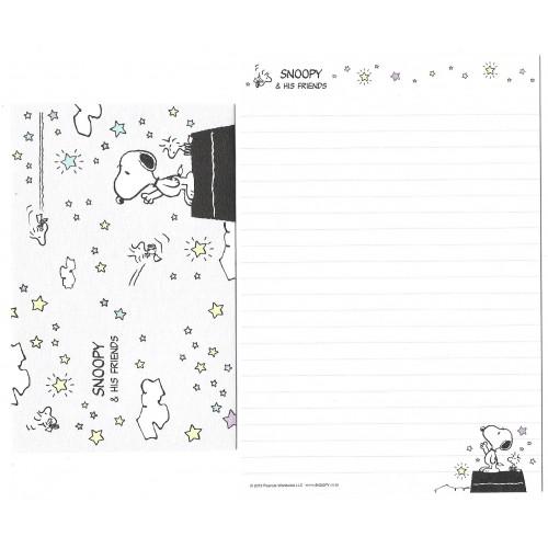 Conjunto de Papel de Carta Snoopy & Friends Peanuts Japão 2015