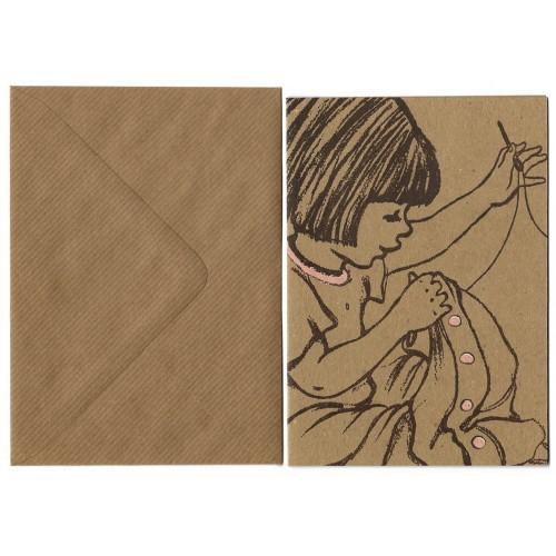 Cartão com Envelope Sewing - Belle & Boo