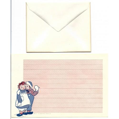 Ano 1961. Conjunto de Papel de Carta Importado Raggedy Ann & Andy CRS1