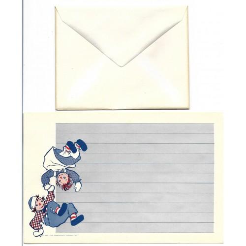 Ano 1961. Conjunto de Papel de Carta Importado Raggedy Ann & Andy CAZ1