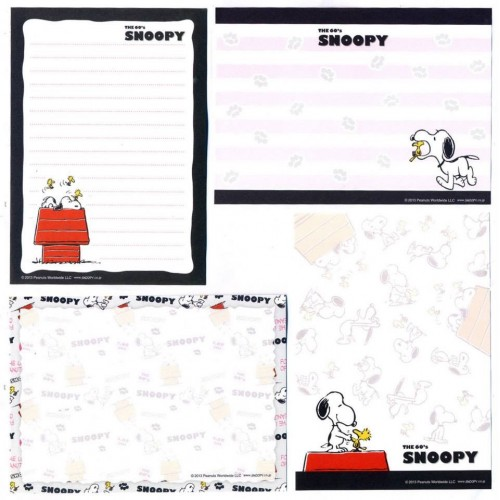 Ano 2013. Kit 4 Notas The 60's SNOOPY and Woodstock CBR
