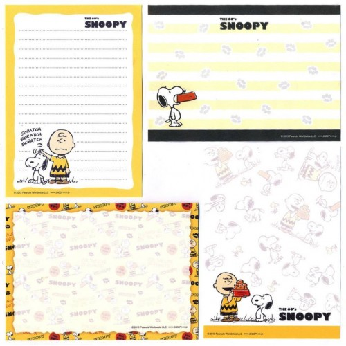 Ano 2013. Kit 4 Notas The 60's SNOOPY and Charlie Brown