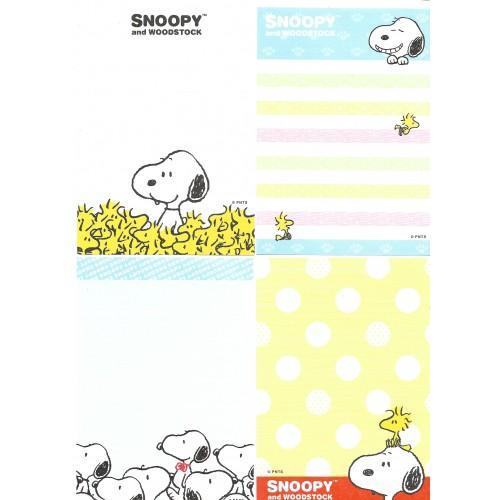 Ano 2015. Kit 4 Notas SNOOPY Yellow Peanuts