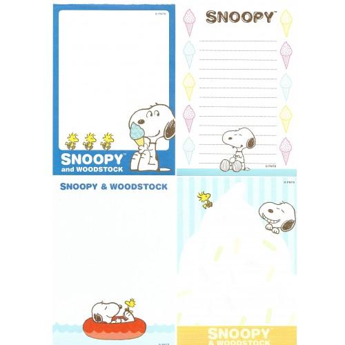 Ano 2015. Kit 4 Notas SNOOPY Ice Cream Peanuts