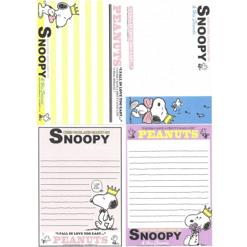 Ano 2014. Kit 4 Notas Snoopy Keep Cool and Carry On
