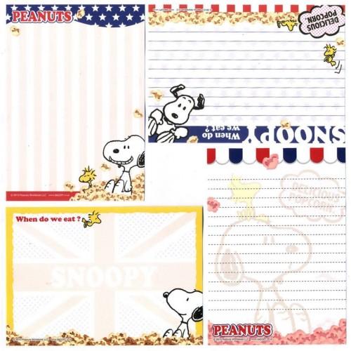 Ano 2013. Kit 4 Notas SNOOPY Popcorn