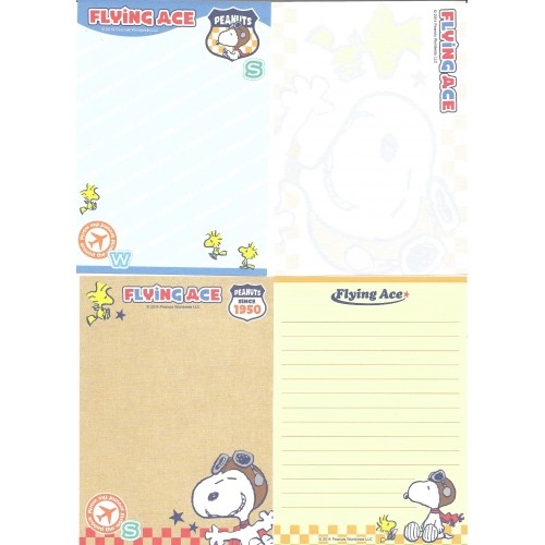 Ano 2014. Kit 4 Notas SNOOPY Flying Ace Peanuts