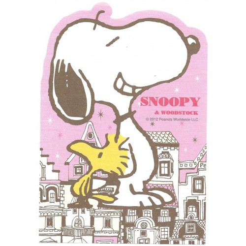 Ano 2012. Nota Vintage SNOOPY & Woodstock GRANDE Delfino