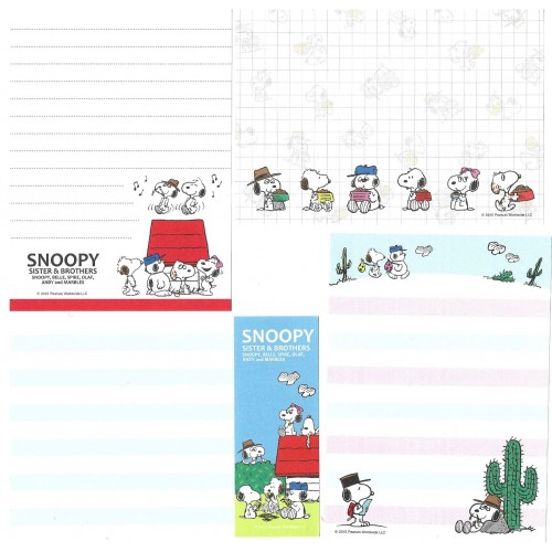 Ano 2015. Kit 4 Notas SNOOPY, SISTERS & BROTHERS