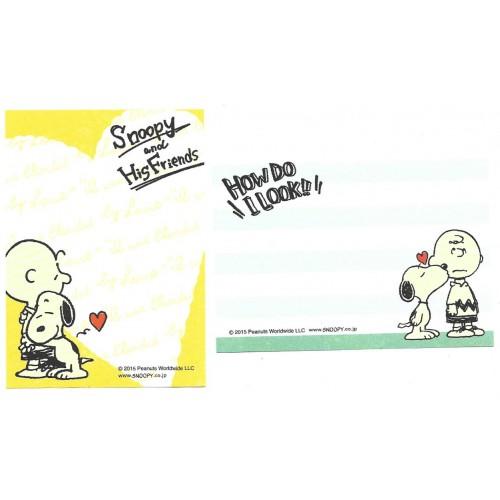 Ano 2015. Kit 2 MEMOS Snoopy & His Friends CAM