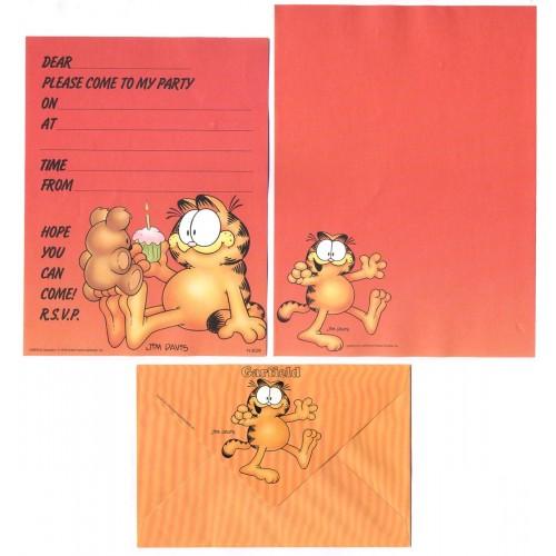 Conjunto de Papel de Carta Garfield Love My Teddy Bear - Paws