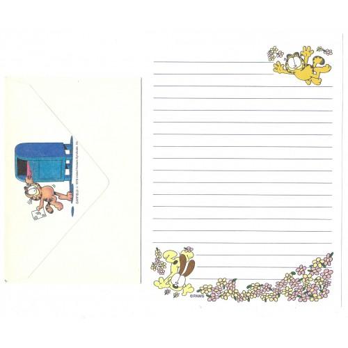 Conjunto de Papel de Carta Avulso Garfield Flowers - Paws