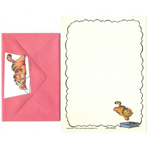 Conjunto de Papel de Carta Avulso Garfield Lasagna - Paws