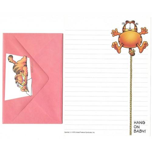 Conjunto de Papel de Carta Avulso Garfield Hang On Baby - Paws