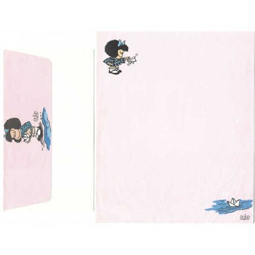 Conjunto de Papel de Carta ANTIGO Mafalda CRS