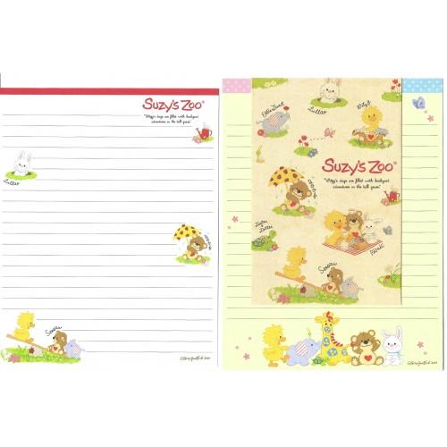 Ano 2014. Conjunto Papel de Carta IMPORTADO Suzy's Zoo 1