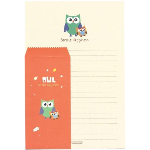 Conjunto de Papel de Carta Importado OWL (COR) Letter Korea