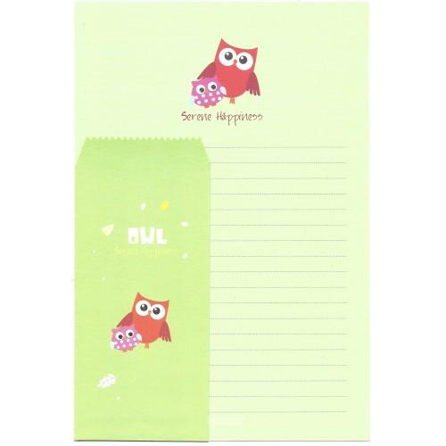 Conjunto de Papel de Carta Importado OWL (CVD) Letter Korea
