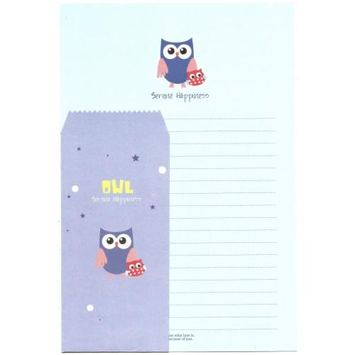 Conjunto de Papel de Carta Importado OWL (CLL) Letter Korea