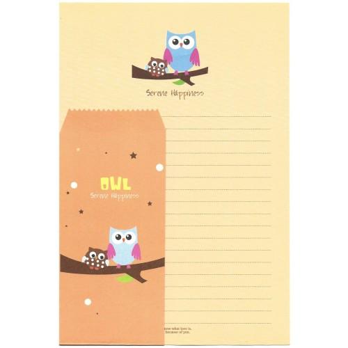 Conjunto de Papel de Carta Importado OWL (CLA) Letter Korea