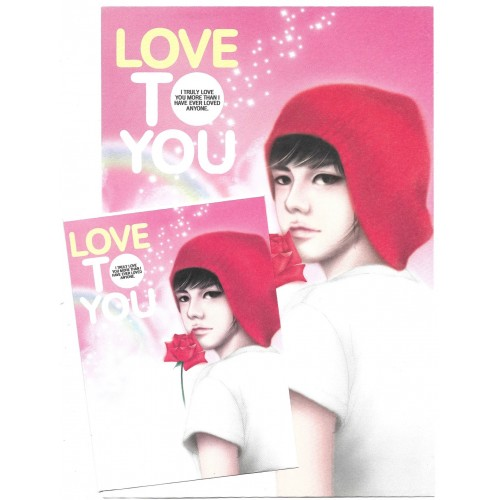 Conjunto de Papel de Carta Importado Love To You - Papier