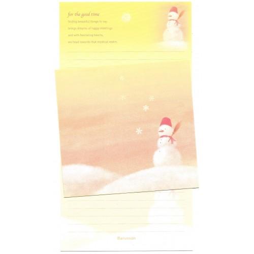 Conjunto de Papel de Carta Importado Snow Man Barunson