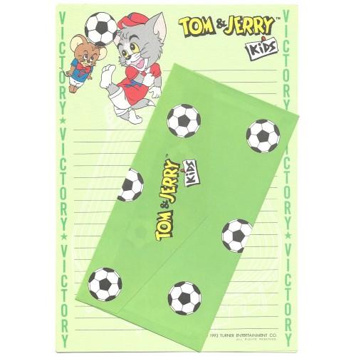 Ano 1993. Conjunto de Papel de Carta Importado Tom & Jerry Kids CVD