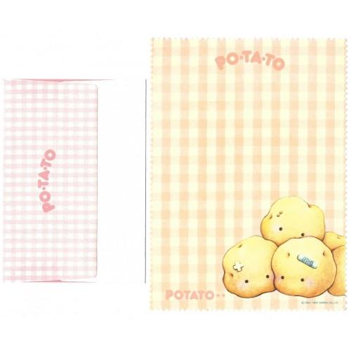 Ano 1984. Conjunto de Papel de Carta Potato Vintage Sanrio