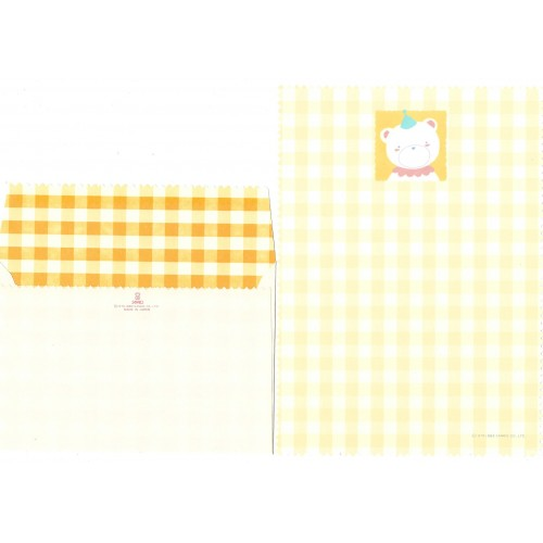 Ano 1983. Conjunto de Papel de Carta Bear Yellow Vintage Sanrio