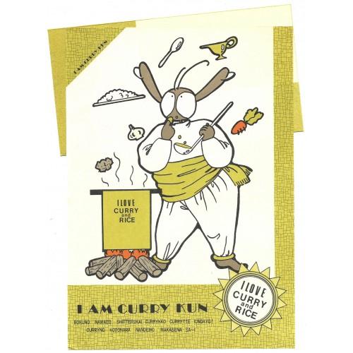Conjunto de Papel de Carta Antigo (Vintage) CURRY KUN Paula Products