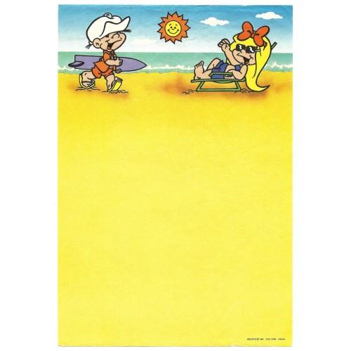 Ano 1987. Papel de Carta Antigo BISCOITO 7 CLIC COM