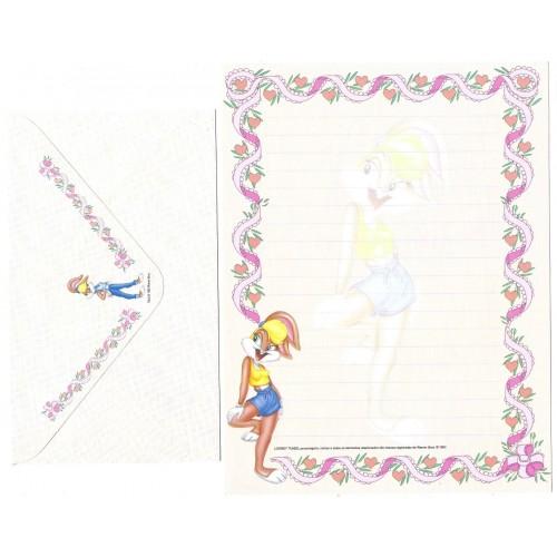 Conjunto de Papel de Carta Looney Tunes Personagens - Warner