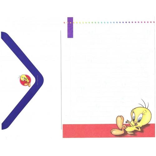 Conjunto de Papel de Carta Looney Tunes Personagens 6 - Warner