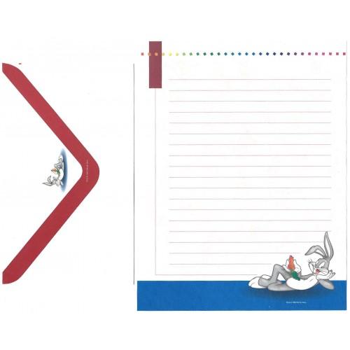 Conjunto de Papel de Carta Looney Tunes Personagens 7 - Warner
