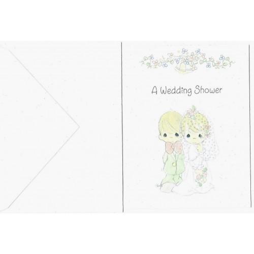 Ano 1994. Cartão Importado Precious Moments Wedding Shower