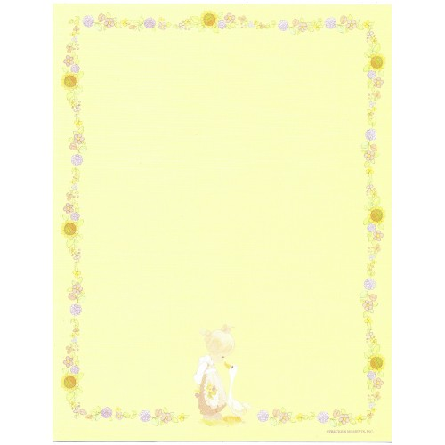Papel de Carta IMPORTADO A4 Precious Moments Yellow
