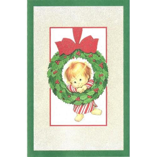 Notecard Antigo Importado Christmas 4 Ruth Morehead A.G.