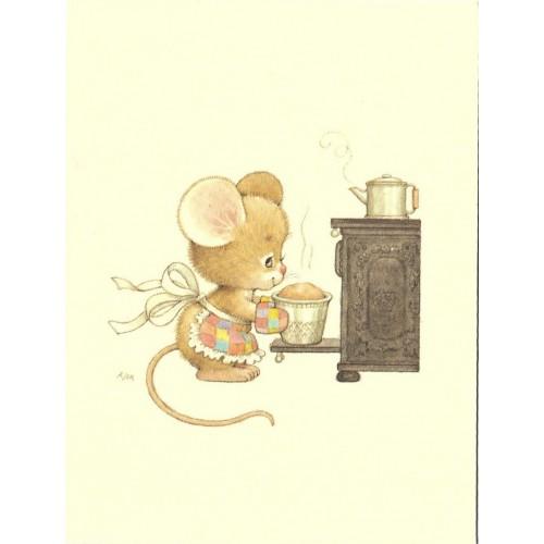 Notecard Antigo Importado Ruth Morehead Mouse 1 Current