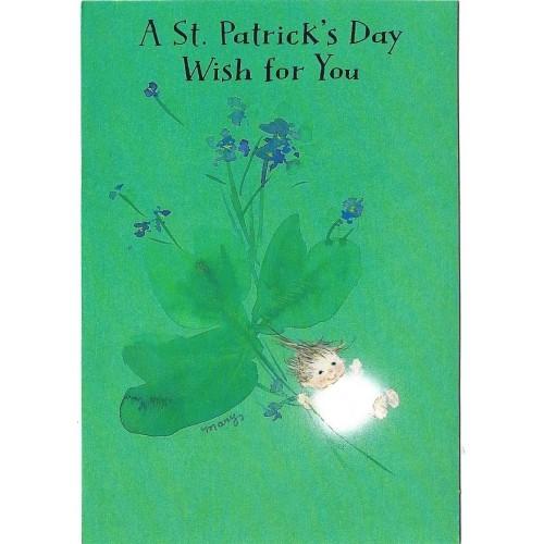 Notecard Antigo Importado Mary Hamilton St. Patrick - Hallmark